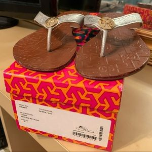 Tory Burch Thora flip flops.